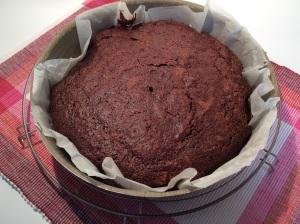 le gâteau à la sortie du four