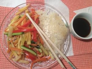 légumes au wok