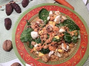 salade végétarienne complète pois chiches et quinoa