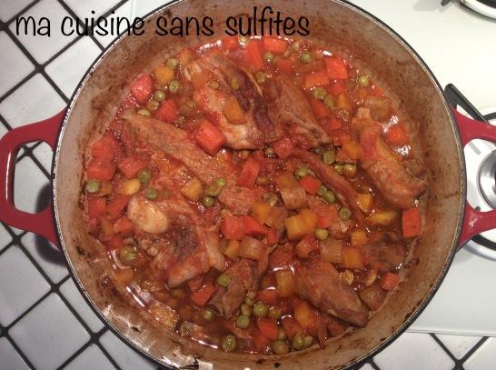 tendrons de veau, carottes et petits pois (plat d'hiver cuisson au four)