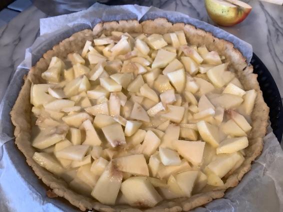 ... et garni des pommes au lait de coco